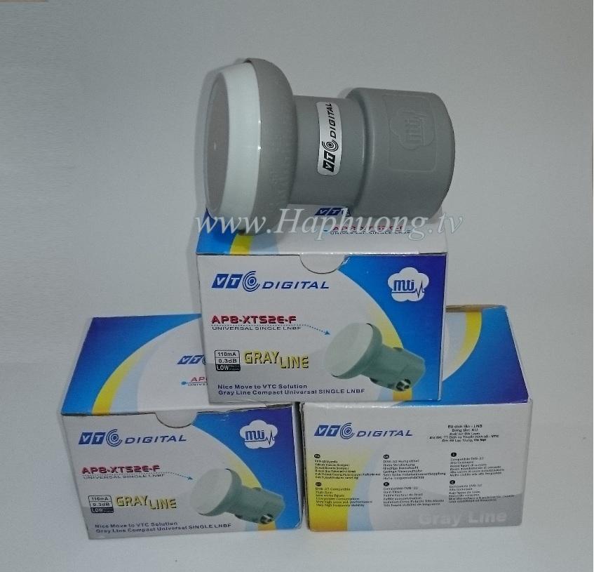 LNB 2 kim và ngõ LNB out đầu thu VTC HD02 LNB-Ku-VTC