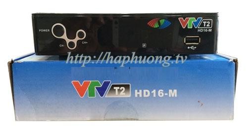 Đầu kỹ thuật số DVB T2 VTV HD16-M mặt trước