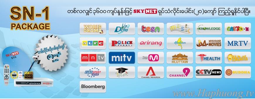 Gói kênh SN1 - Skynet Myanmar