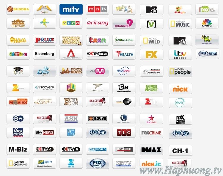 Gói kênh SN2 - Skynet Myanmar
