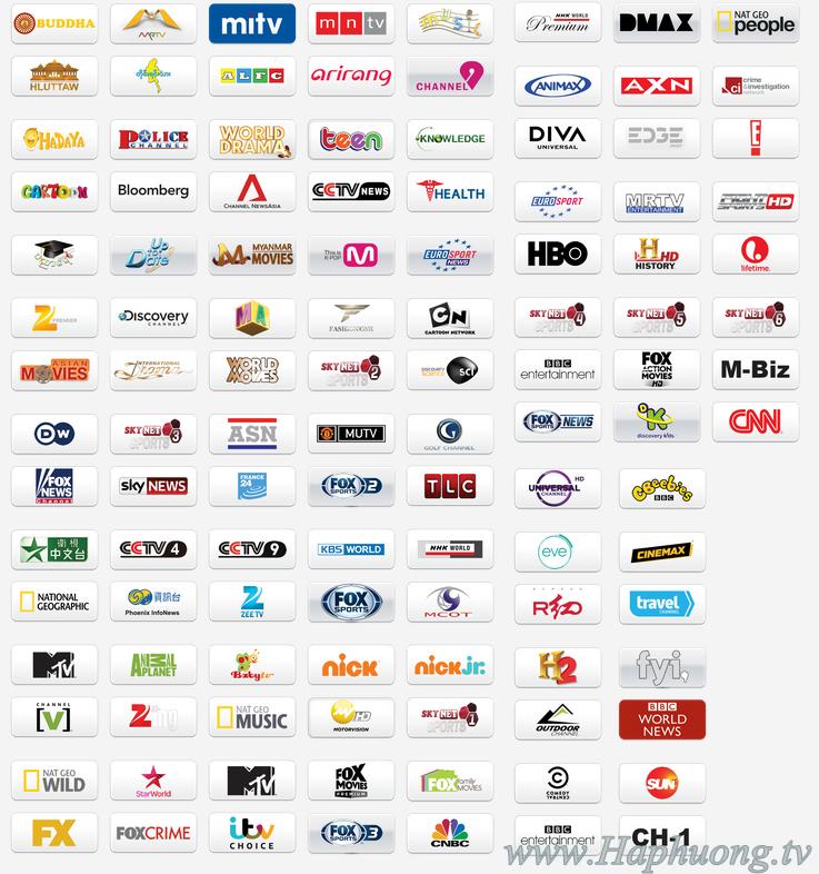 Gói kênh SN3 - Skynet Myanmar