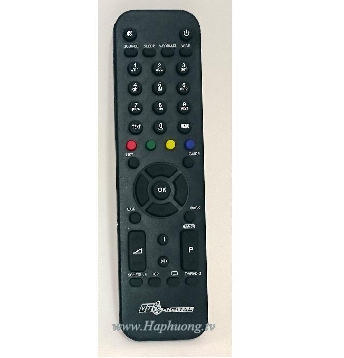 Điều khiển đầu thu VTC HD 02