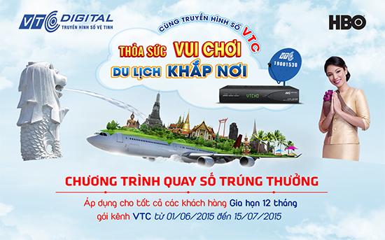 Thỏa sức vui chơi, du lịch khắp nơi với Truyền hình vệ tinh VTC