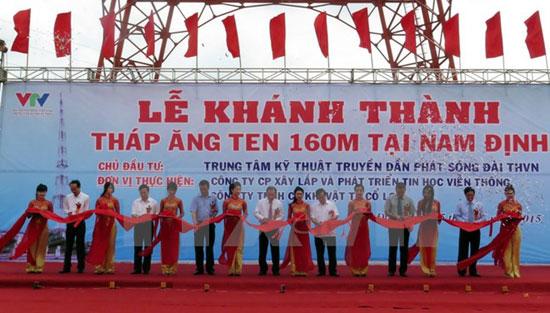 VTV khánh thành tháp truyền hình tại Nam Định cao 160m