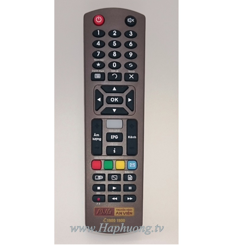 Điều khiển đầu thu truyền hình an viên
