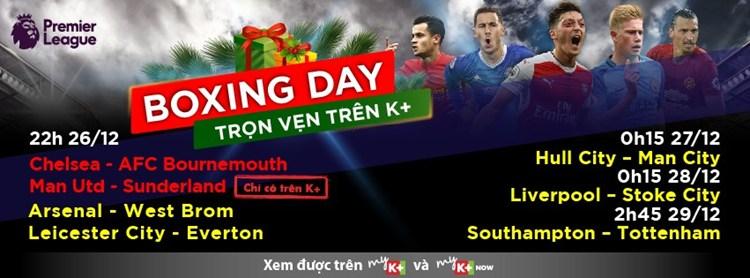 Lịch phát sóng các sự kiện thể thao tuần 52 (24/12 - 30/12) trên các kênh K+