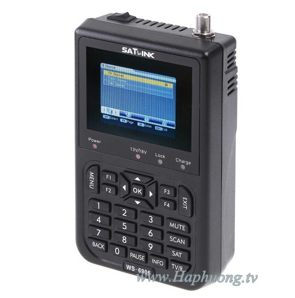 Máy đo truyền hình vệ tinh DVB-S Satlink WS-6906