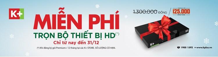 Tặng trọn bộ đầu thu HD tại các K+ Stores