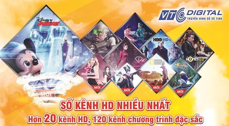 Thông báo tăng kênh mới: Truyền hình số vệ tinh VTC sẽ bổ sung thêm gói 10 kênh HD & SD mới từ ngày 25/10/2014