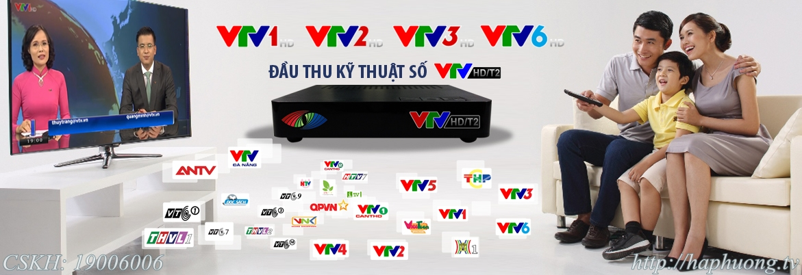 Truyền hình Kỹ thuật số DVB T2 VTV HD T2